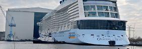 "Inbetriebnahme im April: ""Ovation of the Seas"" ausgedockt"