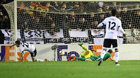 Fünf Buden fing sich Rapid Wien in Valencia ein - in der ersten Halbzeit.