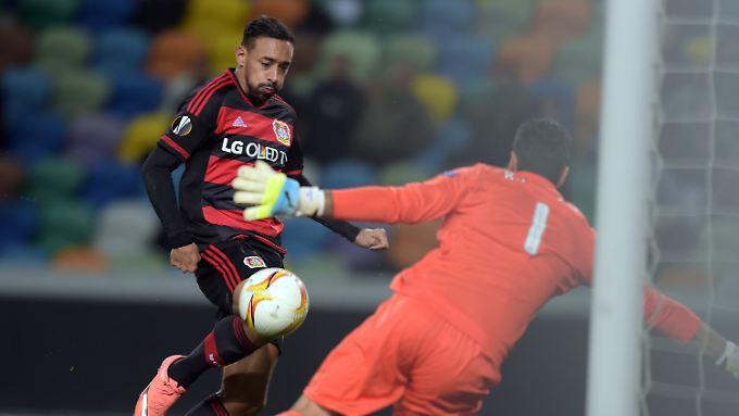 Karim Bellarabi schoss das goldene Leverkusener Tor bei Sporting Lissabon.
