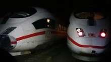 Zugunfall bei Mühlheim: ICE rammt Gerätewagen