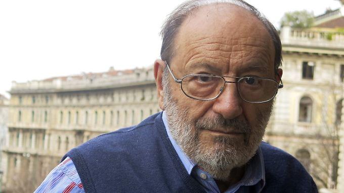 "Gelehrter Erfinder der ""Weltformel"": Umberto Eco (1932 - 2016)."
