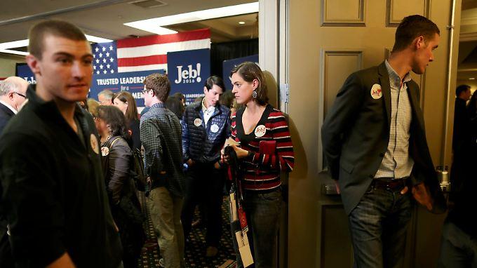 Auf das falsche Pferd gesetzt: Jeb Bushs Rückzug trifft seine Unterstützer und Wahlkampfhelfer hart.