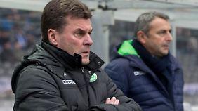 Dieter Hecking hat eine ganze Menge Sorgen vor dem Spiel gegen die Bayern.