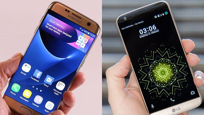 Zwei Koreaner im Duell: das Samsung Galaxy S7 und das LG G5