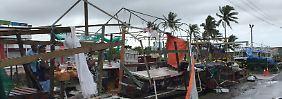 Der Zyklon richtete großflächige Zerstörungen an.