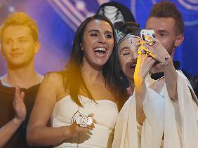 Ein Selfie mit der Siegerin - wer hätte das nicht gerne?
