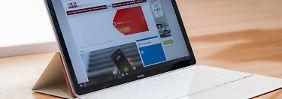 Das MateBook ist eine Kombination aus Windows-10-Tablet und Tastatur.