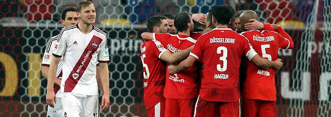 Die Nürnberger mussten zusehen, wie Düsseldorf ein frühes Geschenk einsteckte.