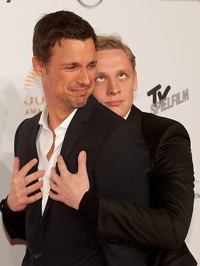 Haben sich lieb: Fitz und Schweighöfer, auch hinter der Kamera ein verrücktes Paar.