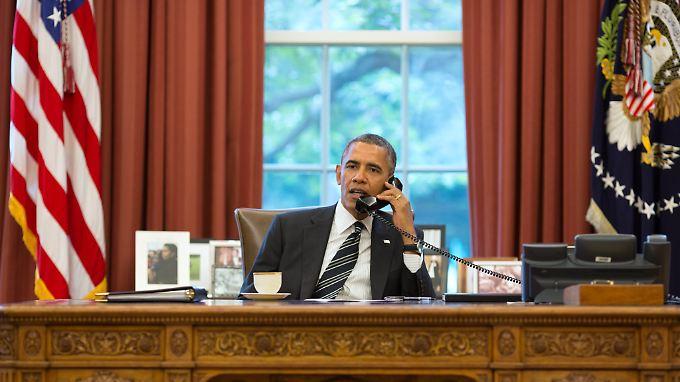 Telefonierte lange mit seinen Kollegen: US-Präsident Obama