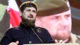 Kadyrow verfügt über eine Privatarmee mit Zehntausenden Kämpfern.
