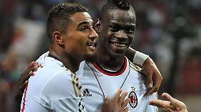 Ein Freund: Boatengs alter und neuer Teamkollege Mario Balotelli.