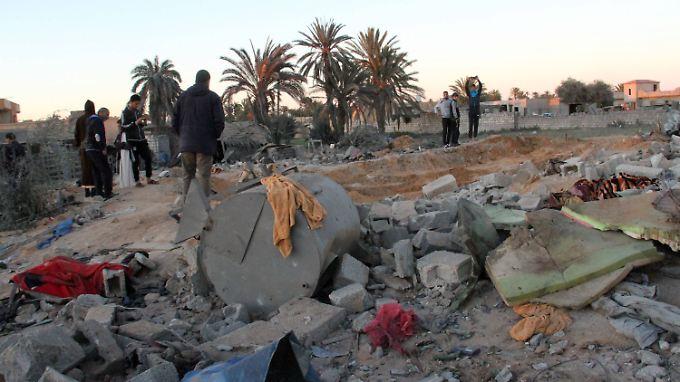Sabrata nach dem US-Luftschlag: Der Überfall auf das Stadtzentrum zeigt, wie stark die IS-Milizen in der Region sind.