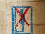 Graffito gegen Wildpinkler.