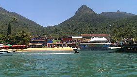 Ein Urlaubsparadies wie aus dem Katalog. Ein Strand auf der Ilha Grande.