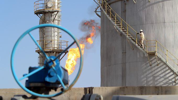 Das Halfaya Ölfeld in Amara, südöstlich von Bagdad.