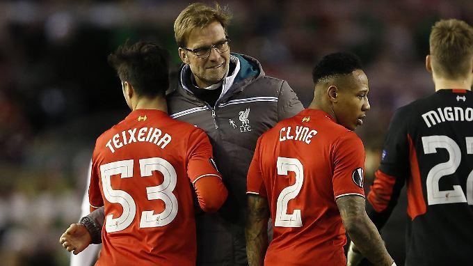 Jürgen Klopp und sein FC Liverpool stehen im Achtelfinale der Europa League.