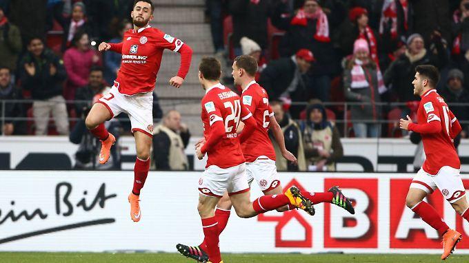 Yunus Malli brachte den FSV Mainz 05 mit seinem Treffer zum 1:0 auf Siegkurs.