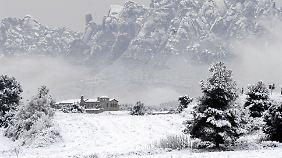 Eine Kältewelle hat Spanien fest im Griff.
