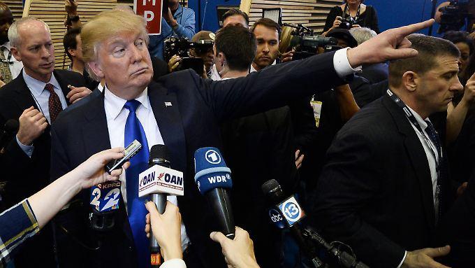 Gibt sich unwissend: Donald Trump