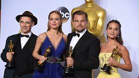 """Oscar für DiCaprio und Larson: """"Spotlight"""" überrascht, Stalone enttäuscht"""