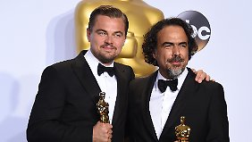 "DiCaprio bekam den Oscar als Hauptdarsteller, Iñárritu als Regisseur von ""The Revenant""."