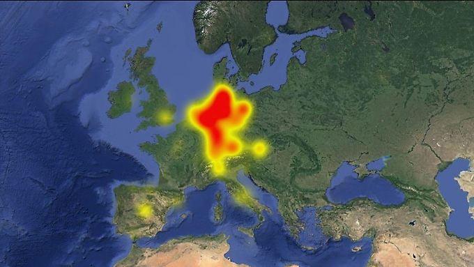 Die Whatsapp-Störungen konzentrieren sich auf Deutschland.