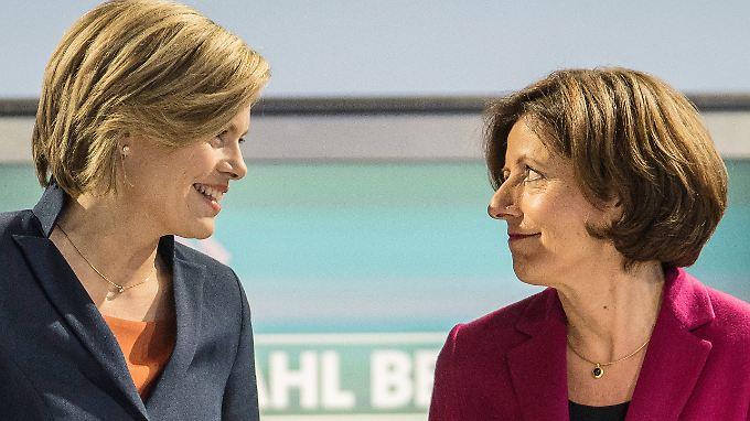 Harmonie mit Differenzen: Julia Klöckner (l.) und Malu Dreyer vor dem TV-Duell.