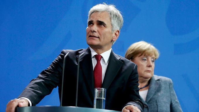 Angela Merkel und Werner Faymann ziehen schon lange nicht mehr am gleichen Strang.