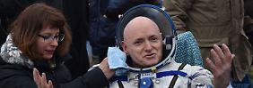 Gorilla verlässt ISS: Raumfahrer kehren nach einem Jahr zurück