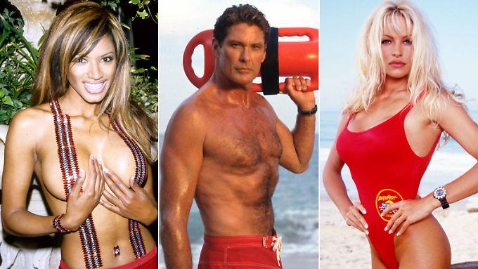 Wen würden Sie gern in Badekleidung wiedersehen? Traci Bingham (l.), David Hasselhoff oder Pamela Anderson?
