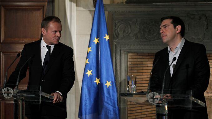 Donald Tusk und Alexis Tsipras haben in Athen über den anstehenden EU-Gipfel beraten.