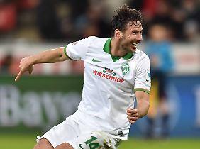 Dreierpack in Leverkusen: Claudio Pizarro.