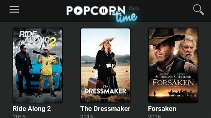 """""""c't"""" warnt davor, Apps wie """"Popcorn Time"""" zu nutzen."""