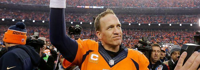 Star-Quaterback Peyton Manning geht in Rente.
