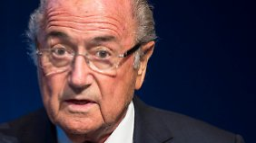 """""""Wenn ich eingeladen werde, pflege ich die Einladungen auch anzunehmen"""", sagt Joseph Blatter."""