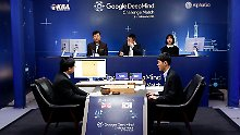South Korean professional Go player Lee Sedol, right, prepares for his second stone against Google's artificial intelligence program, AlphaGo, as Google DeepMind's lead programmer Aja Huang, left, sits during the second match of the Google DeepMind Challenge Match in Seoul, South Korea, Thursday, March 10, 2016. Google's computer program AlphaGo defeated its human opponent, South Korean Go champion Lee Sedol, on Wednesday in the first face-off of a historic five-game match. (AP Photo/Lee Jin-man)