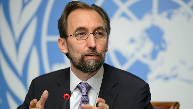 Zeid Raad al-Hussein will seine Sorgen nächste Woche persönlich vortragen.