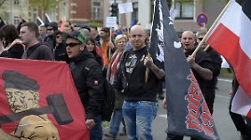 """Demonstration der Partei """"Der III. Weg"""" im Frühjahr 2015 in Thüringen"""