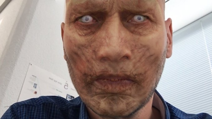 Ein Tipper genügt, um sich via MSQRD in einen verdammt gutaussehenden Zombie zu verwandeln.