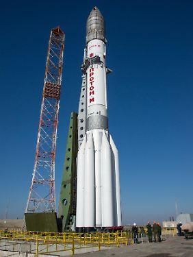 Am 11. März wurde die Proton-M-Rakete an der Startrampe in Baikonur aufgerichtet.