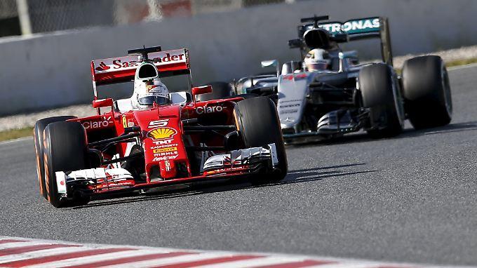 Ferraris Sebastian Vettel will in Bahrain die Mercedes-Konkurrenz hinter sich lassen.