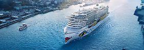 """Japanische Werft gibt das """"Go"""": Neues Schiff """"Aidaprima"""" ist fertig"""