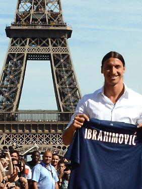 Werden die Verhältnisse zwischen ihm und dem Eiffelturm architektonisch angepasst, dann bleibt Zlatan Ibrahimovic.