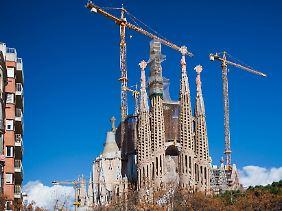 Immer noch im Bau: die Sagrada Familia, das Wahrzeichen Barcelonas.