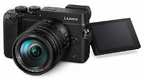 Die Panasonic Lumix GX8 ist eine kompakte spiegellose Systemkamera mit elektronischem Sucher.
