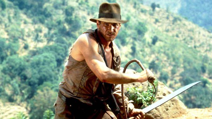 """Nur eine seiner Paraderollen - aber was für eine! Harrison Ford als """"Indiana Jones""""."""