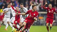 … erzwangen durch Thomas Müller die Verlängerung im Achtelfinal-Rückspiel gegen Juventus …
