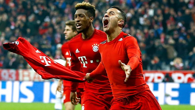 Die eingewechselten Kingsley Coman und Thiago Alcántara machten mit ihren Toren in der Verlängerung gegen Juve den Einzug der Bayern ins Champions-League-Viertelfinale perfekt.