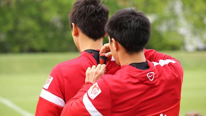 Die Mainzer Spieler werden mit GPS- Sensoren ausgerüstet.